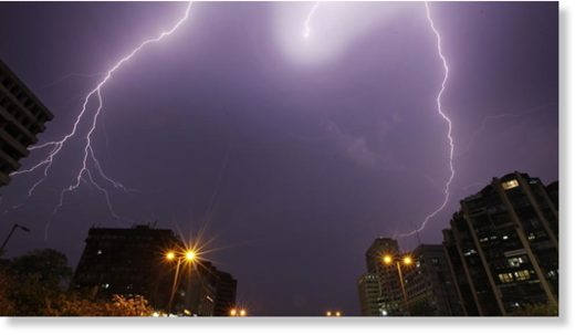 Higher particulate matter pollution and loss of vegetation is making urban areas more susceptible to lightning strikes.