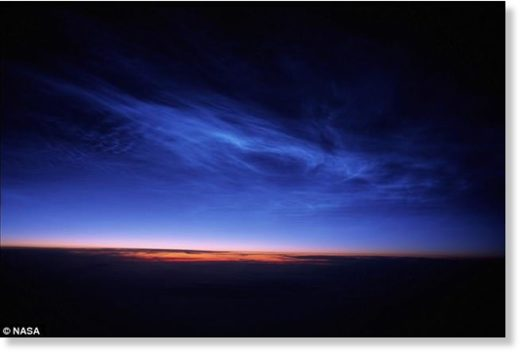 'Night-shining' noctilucent clouds forming 50 miles above Earth's surface are becoming more common