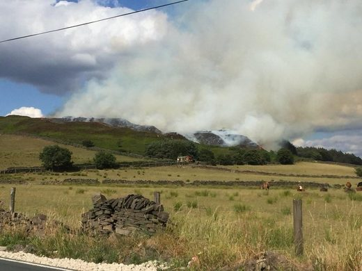 Another moor fire scorches through land parched by heatwave in Bradford, UK