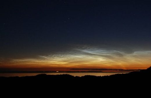 Noctilucent clouds over Wales