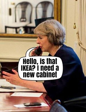 theresa May IKEA