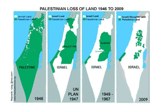 Map of disappearing Palestinian territory