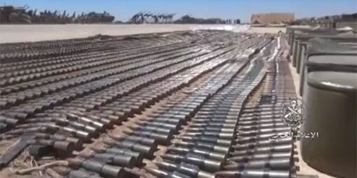 Syrian Army discovers US-made weapons left behind by terrorists in Daraa