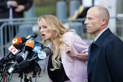 Stormy Daniels and Lawyer