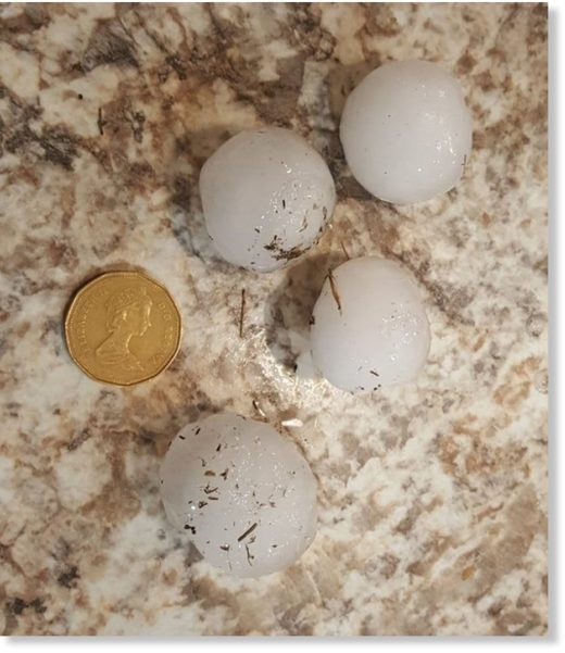 Some of the hail in the area of Baildon, Sask. was larger that a loonie.