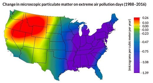 Map of US air