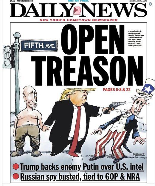 new york daily cartoon trump putin