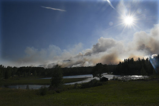 forest fire  Ljusdal Sweden