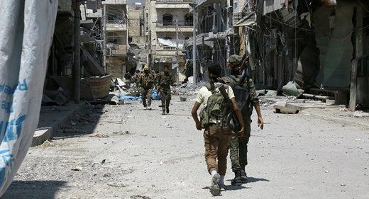 SDF patrolling streets