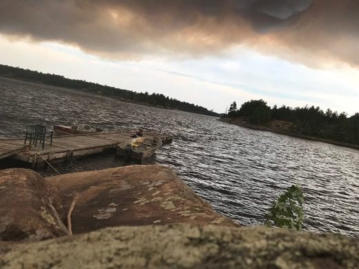 Foreest fires French River Provincial Park Ontario Jul 2018