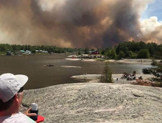 Forest Fire Key River Ontario Jul 2018