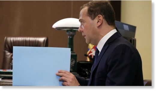 Russian PM Medvedev attends