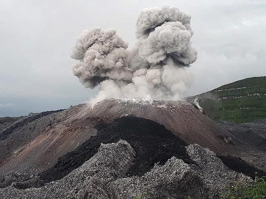 Ibu volcano eruption July 2018.