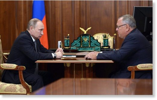 Andrey Kostin and Putin
