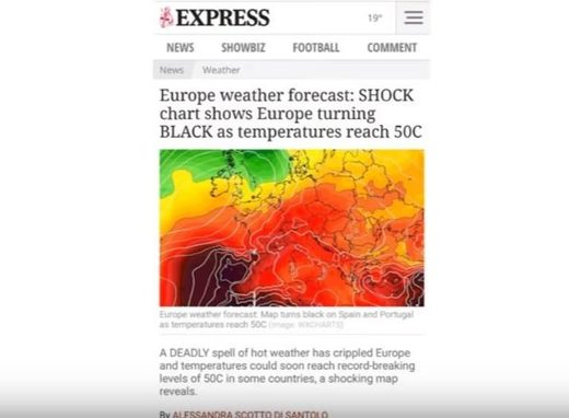 Extreme temps in Europe