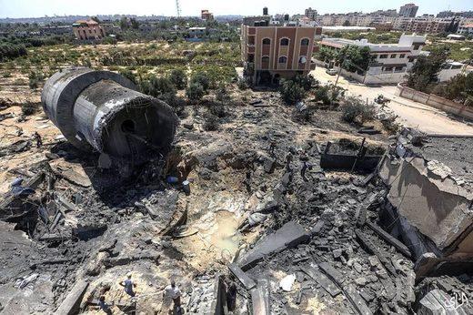 gaza water plant destroyed