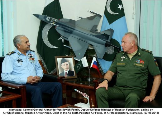Pakistan and Russian defense ministers
