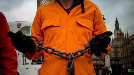 prisoner in chains