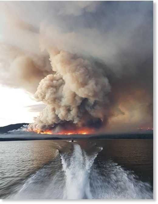 The Pondosy Bay Wilderness Resort on Eutsuk Lake south of Houston had to be evacuated this weekend because of a wildfire.