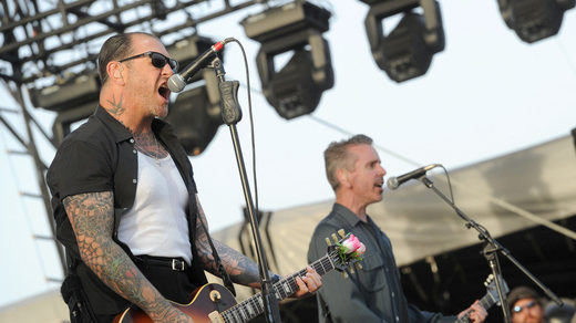 Mike Ness (left) of Social Distortion.