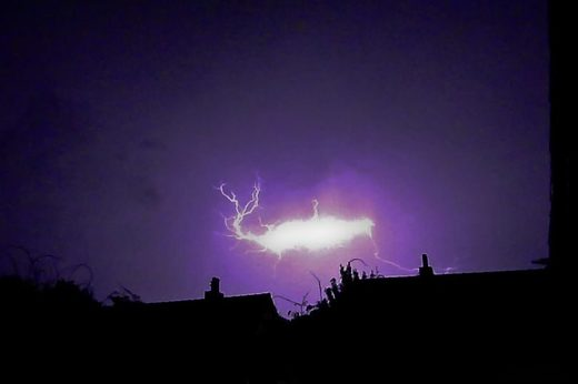 Ball lightning in Maastricht, Netherlands