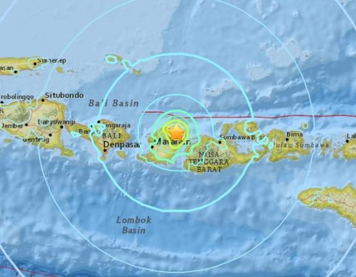 6.3 magnitude earthquake has hit the Indonesian island of Lombok
