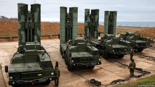 Russian-made S-400 missiles