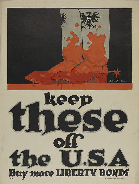 World War I-era poster: Keep these off the USA