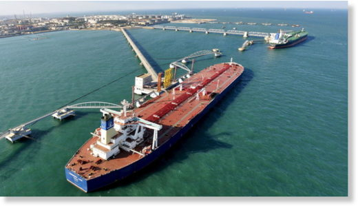 oil importing port china
