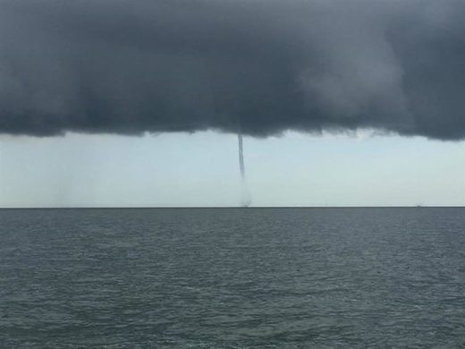 Waterspouts spotted off coast of Whitstable, UK