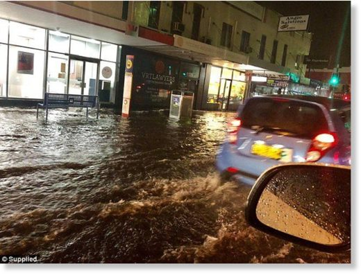 Flooding was captured in Mascot, close to Sydney Airport