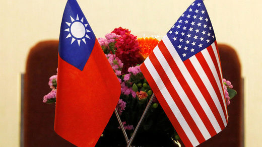 Flags of Taiwan and US