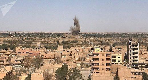 US airstrikes Deir-ez-Zor white phosphorus