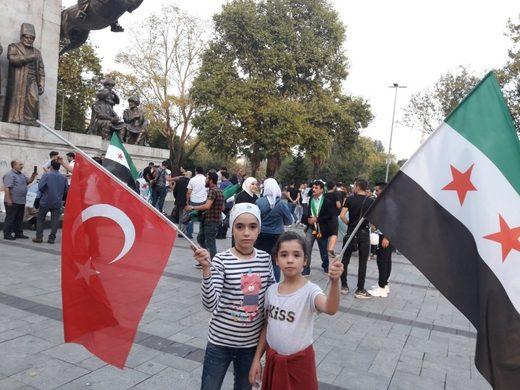 Noor i Alaa na prosvjedima protiv antiterorističke kampanje u Idlibu