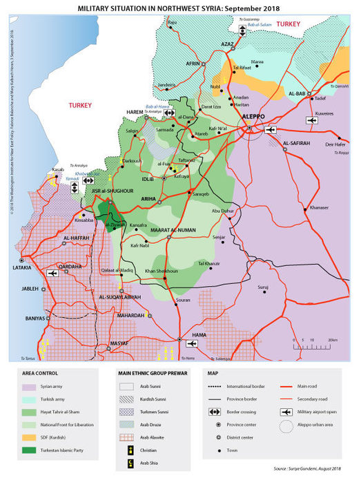military map northern Syria Idlib