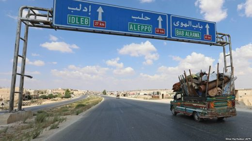 Residents of Idlib Province flee