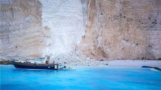 cliff collapse greece september 2018