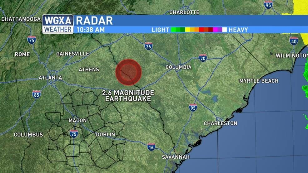2.6 magnitude earthquake rattles area north of Augusta -- Earth ...