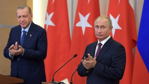 Turkish President Recep Tayyip Erdogan and President Vladimir Putin