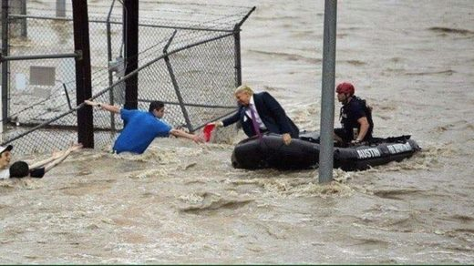 viral picture trump floods fake