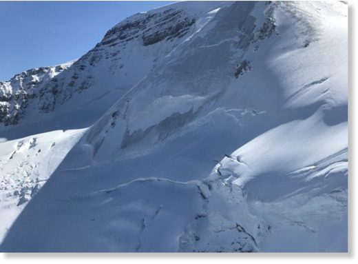 Two climbers were buried in a 2.5 size avalanche on Mt. Athabasca, Sept. 19. Both suffered serious, but non life-threatening injuries.