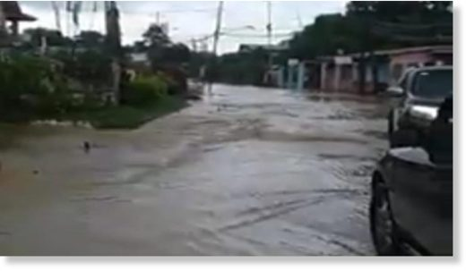 Flooding reported in the Prince Town region.