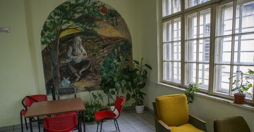 painting in psychiatric hospital Kurilo, Bulgaria