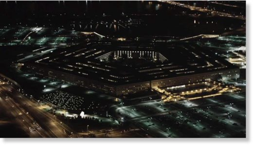 pentagon at night