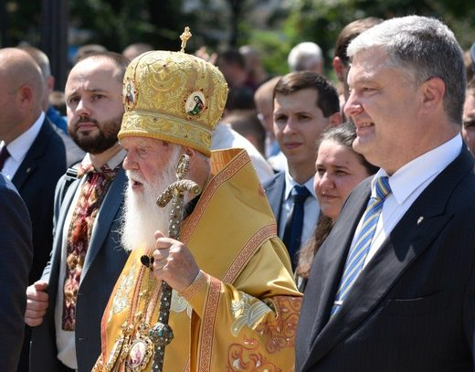 Filaret and Petro Poroshenko.