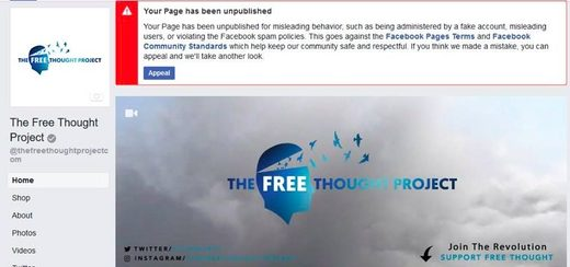 Free Thought Project banned