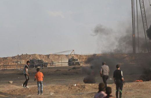 Protests at the Gaza fence Oct. 12 2018