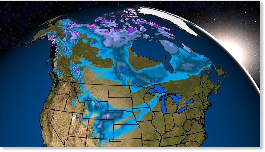 North American snow cover is the most it\'s been in Mid-October in 13 ...
