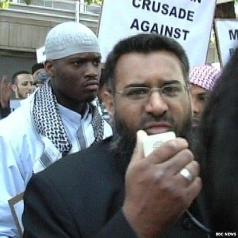 Anjem Choudary with Lee Rigby killer
