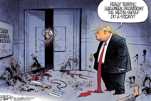 Khashoggi murder cartoon